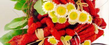 Salámové kytice - novinka